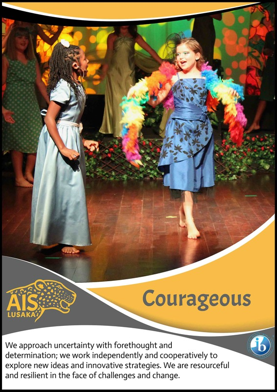 IB Learner profile courageous American International school of Lusaka, Picture